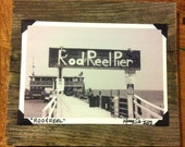 """FOR CINDY SHORE - 5 B & W Photos - """"Rod and Reel"""" -   6 1/4"""" X 5 1/4"""""""