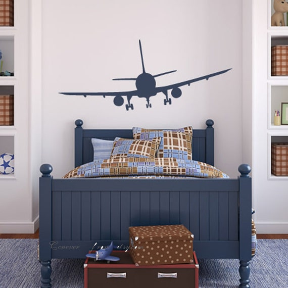 Items similar to 62x26inches airplane airline aeroplane for Boys airplane bedroom ideas