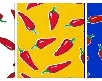 OilclothByTheYard   Red Hot Chili Pepper  Your Choice by the Roll