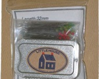 Little House Pins Japanese Sewing Pins Glass Head Pins Fine Sharp Sewing Pins In Tin Box