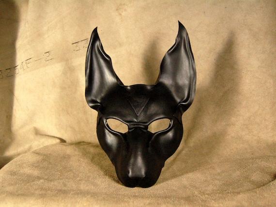 black leather mask of anubis black pyramidian. Black Bedroom Furniture Sets. Home Design Ideas