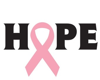 Hope Breast Cancer Decal