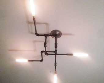 Quatre-Branch Pipe Light Chandelier 1.0