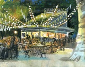 Madison Square Park Shake Shack at Night Print