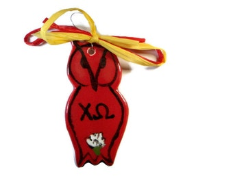 Chi Omega Owl Ornament