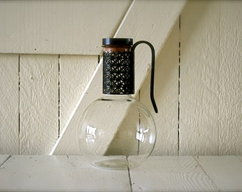 Mid Century Pitcher... Thick Glass
