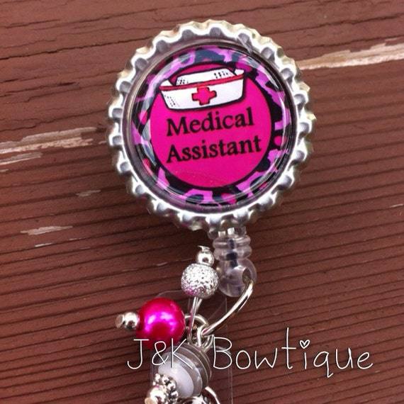 medical assistant retractable badge reel id holder badge
