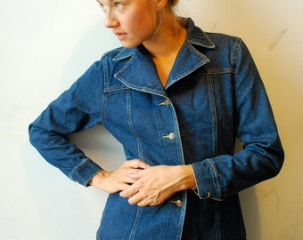 Vintage Womens Denim Jacket 1970s Jean Jacket Blue Jean