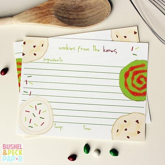 Cookie Swap #Recipe Cards