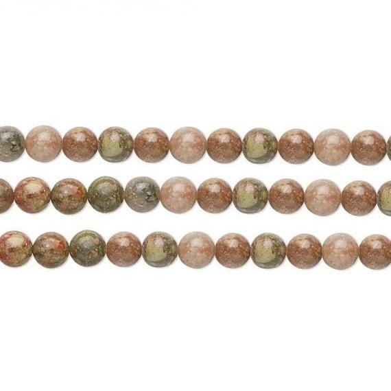 Round Autumn Jasper Beads 8mm 15 Inch Strand