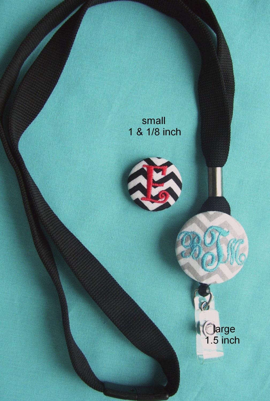 personalized monogrammed black breakaway lanyard  u0026 badge reel