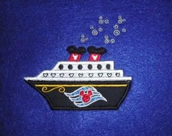 Dis Cruise Ship appliqued patch