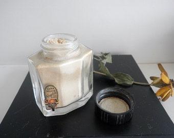 Vintage Glass Talcum Powder Jar Cara Nome Scent Sachet by Langlois 1920's