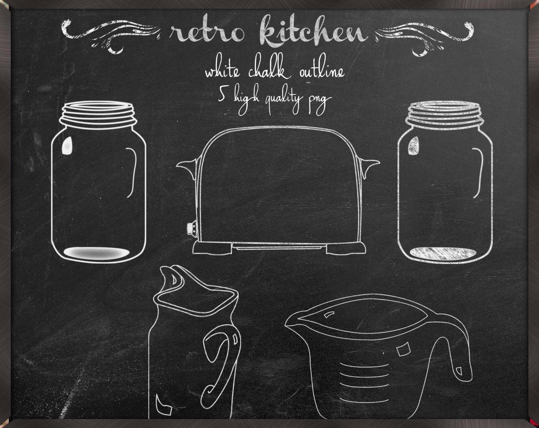 Chalkboard Kitchen Chalkboard Kitchen Clipart Digital Clip Art Chalkboard Line