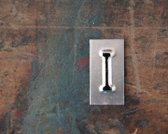 vintage industrial letter  I / metal letters / letter art