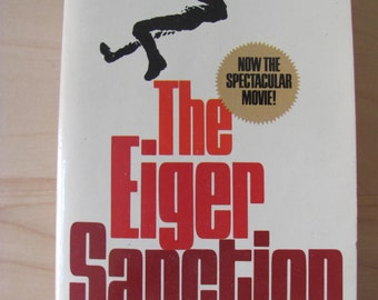 Vintage Paperback Book The Eiger Sanction Trevanian Fiction Novel 1970s Avon 15404 First Edition Action Adventure Suspense Cliffhanger