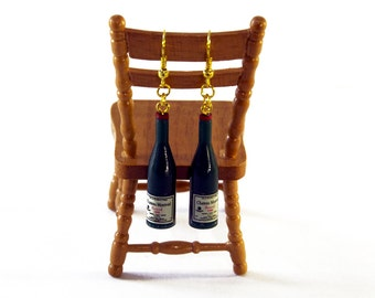 Champagne Bottle Earrings, Congratulations Gift, Prosecco Gift