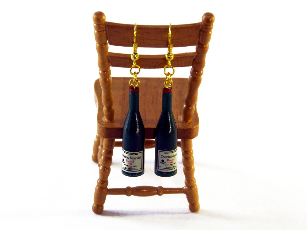Champagne Bottle Earrings - Congratulations Gift - Prosecco Gift