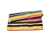 Ice Pop Stripe Zipper Clutch - Ready To Ship