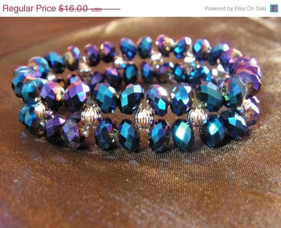Summer Sale Blue and Purple Brilliance Bracelet