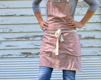 Cotton Ticking Apron No. 3 made to order 7-10 Day Production Time