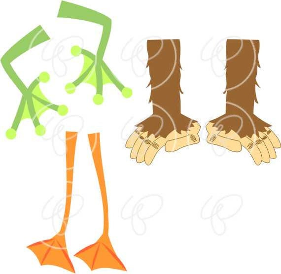 Whose Feet : Animal Digital Clipart Pack 300 dpi Elephant