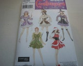 Pattern Ladies Costumes Mrs Clause Little Bo Peep Pirate Fairy Sz 6 to12 Simplicity 4046 A