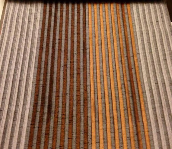 Custom Rust Orange Curtains With Small Stripe Pattern One 50in