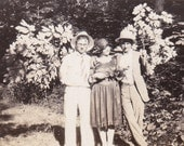 Vintage Photo - Gal and Two Gentlemen - Vintage Photograph, Vernacular, Found Photo  (BBB)