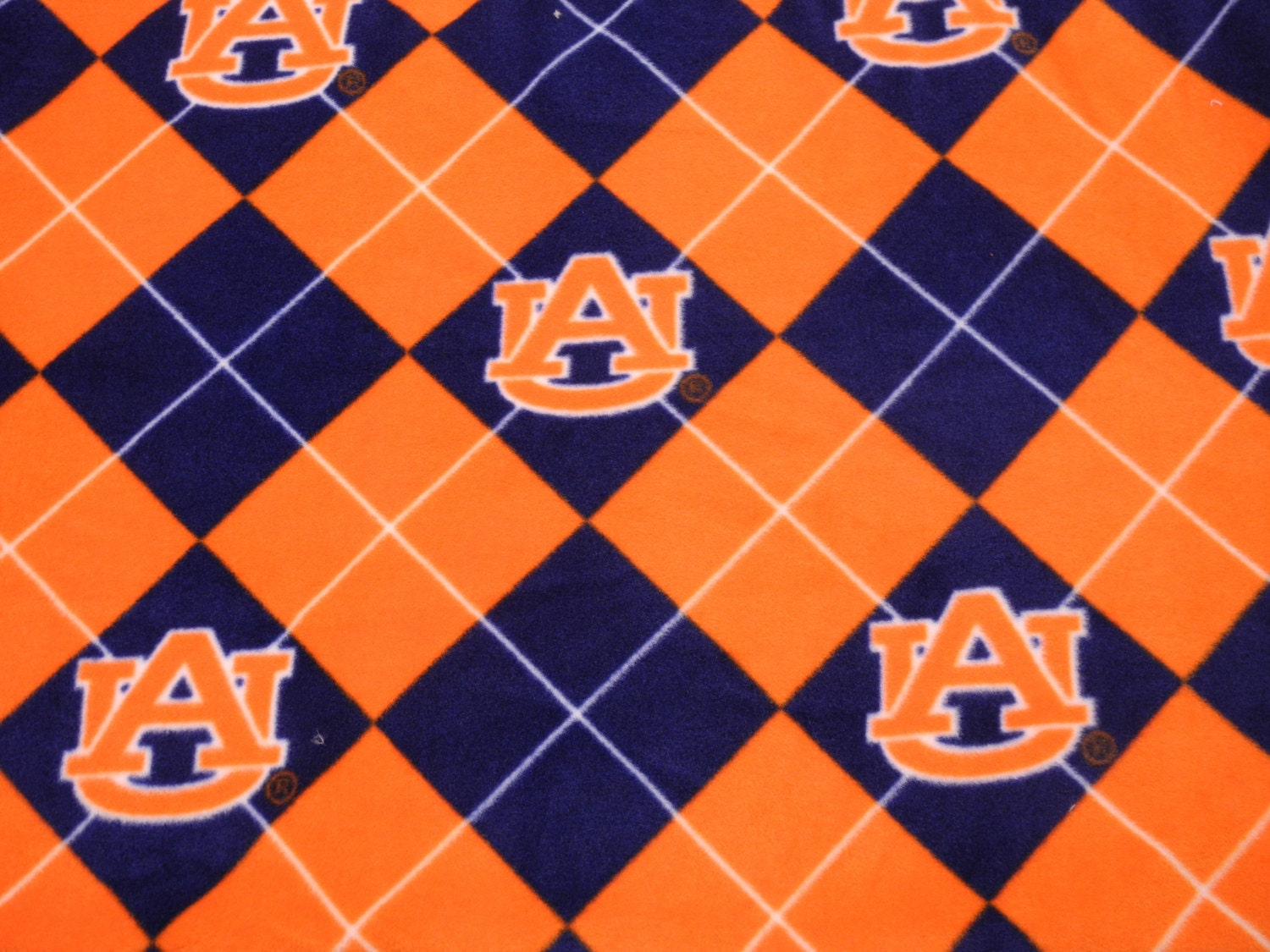 auburn university fleece fabric by the yard by designsbysusan1. Black Bedroom Furniture Sets. Home Design Ideas