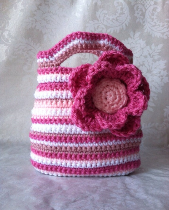 Crochet Purse for Girls, Crochet Purse, Pink Purse, Flower Purse ...