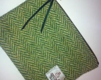 Harris tweed purse cosmetic bag make up bag, made in Scotland women ladies girls gift Scottish