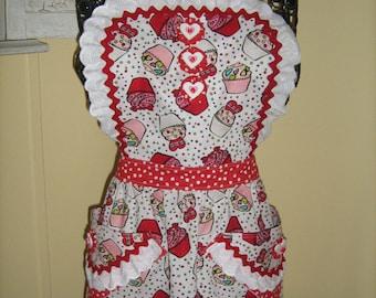Child's V-Day Bib Cupcake Apron