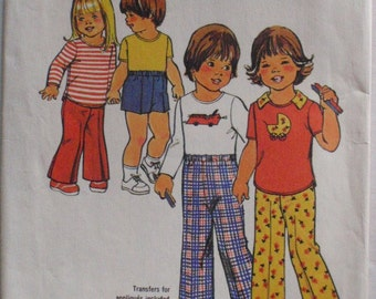 Toddler's Vintage Sewing Pattern - Pants, Shorts and Pullover Top  - Simplicity 7061 - Size 1, Chest 20, Uncut
