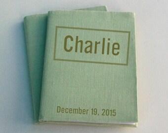 Valentine Custom Photo Album / Brag book . Ultramagnetic Font . Valentine Gift .Linen