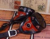 "Steampunk Red Goggles ""Regal Aristocrat""  G007"