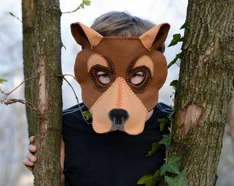 Bear Mask  PDF Pattern