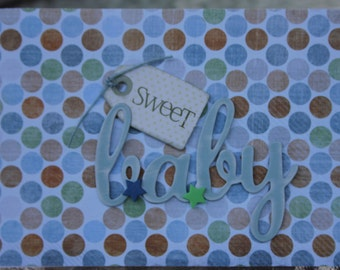 Baby Shower Card, Baby Boy Congrats Card, Newborn Baby Congrats Card, Sweet Baby Boy Congrats Card
