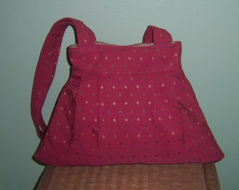 SALE - Salmon Dotted Purse