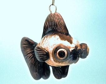 Panda Moor Goldfish Christmas Ornament