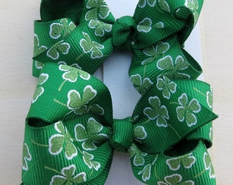 St. Patrick Boutique Hairbow Set of Two Children Infants Hairclip