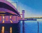 Original Painting Florida Flagler Avenue Drawbridge 16x20 by Ed McCarthy