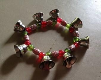 Christmas Holiday Jingle Bell Stretch Bracelet