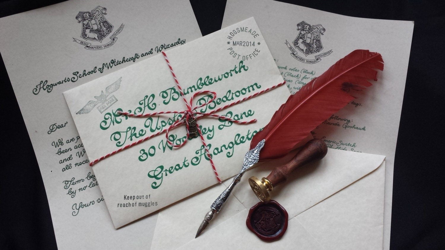 harry potter letters custom hogwarts acceptance letter two page harry potter 22097 | il fullxfull.577699879 n8ve