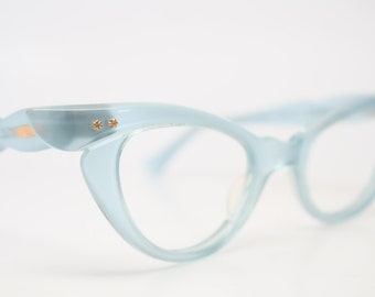 Baby blue cat eye glasses  vintage cateye eyeglasses frames