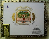 Cigar Box for crafting, purses, supplies  - ARTURO FUENTE - Churchill - Empty Cigar Box