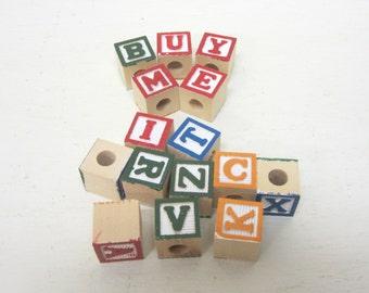 Alphabet Blocks 5/8 Inch