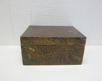 Vintage Wooden Sewing Box Made In Japan Haribako