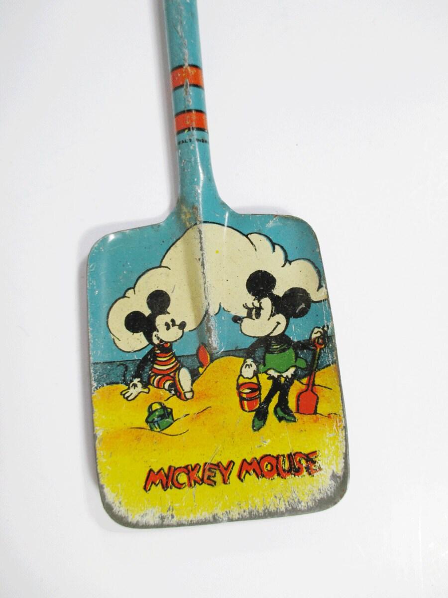Vintage Mickey Mouse Litho Shovel Sand Pail Shovel Ohio