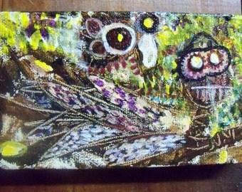 "Abstract Art- Original Acrylic Painting 3X5"""